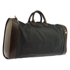 Louis Vuitton Black Brown Canvas Leather Top Handle Men's Travel Duffle Bag