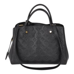 Louis Vuitton Black Monogram Empreinte Montaigne MM Handbag
