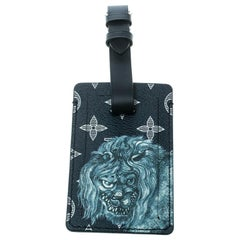 Louis Vuitton Blue Monogram Savane  and Leather Chapman Brothers Luggage Tag