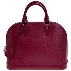 Louis Vuitton Carmine Epi Leather Alma PM Bag