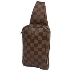 LOUIS VUITTON Geronimos unisex body bag N51994 Damier ebene