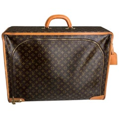Louis Vuitton Large Monogram Suitcase Luggage with Combination Lock & ID Tag VTG