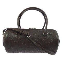 Louis Vuitton Monogram Choc Brown Leather Top Handle Satchel Shoulder Bag