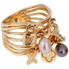 Louis Vuitton Monogram Pearl Cocktail Ring
