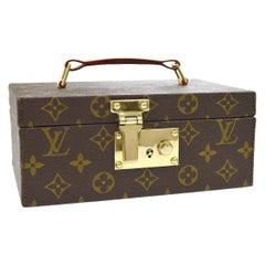 Louis Vuitton Monogram Top Handle Men's Women's Jewelry Travel Storage Case Bag