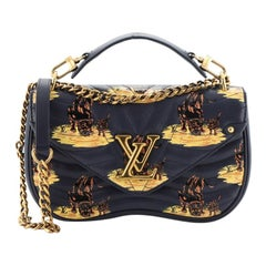 Louis Vuitton New Wave Chain Bag Limited Edition Printed Quilted Leather