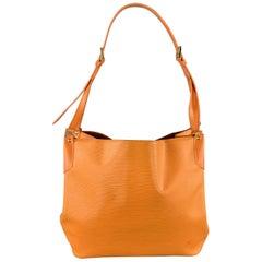 LOUIS VUITTON Orange Epi Leather MANDARA MM Large Shoulder Bag