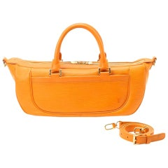 Louis Vuitton Orange Epi Leather Medium Size Weekender Travel Shoulder Bag