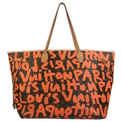 Louis Vuitton Orange Stephen Sprouse Graffiti Neverfull GM Tote Bag