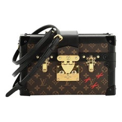 Louis Vuitton Petite Malle Handbag Monogram Canvas