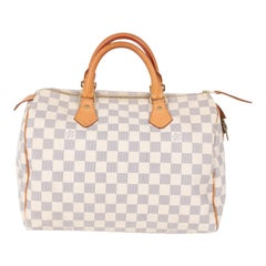 Louis Vuitton Speedy 30 Damier Azur Canvas Bag