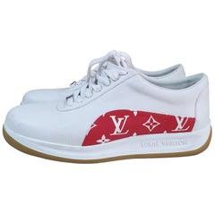 Louis Vuitton Sport Supreme White Monogram Sneakers