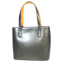LOUIS VUITTON Stockton Womens tote bag M55112 noir( close to gray)