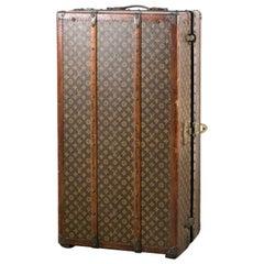 Louis Vuitton Trunk Steamer Wardrobe Trunk Interior Fitted John Wanamaker Label