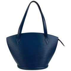 Louis Vuitton Vintage Blue Epi Leather Saint Jacques Shoulder Bag