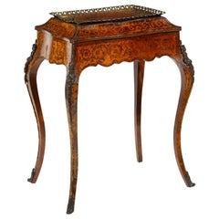 Louis XV Style French Kingwood and Amboyna Marquetry Jardinière