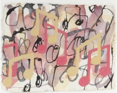 Untitled (Abstraction with musical notes)