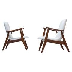 Lounge Chairs by Louis Van Teeffelen for WéBé, Netherlands, 1950s