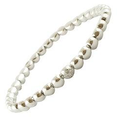 Lovely Bracelet Realized in 18 Karat Gold, the Bracelet Is Made of Gold Beads