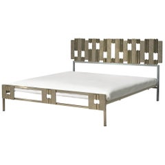 Luciano Frigerio Sculptural Bed in Hammered Steel