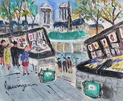 Paris Booksellers (Bouquinistes) Along the River Seine