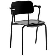 Lukki Chair in Black by Ilmari Tapiovaara & Artek