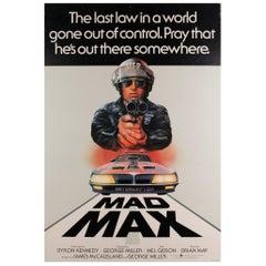 """Mad Max"", 1979 UK 1 Sheet Film Poster"