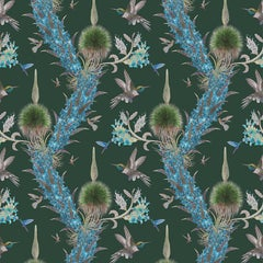 Madidi Hummingbirds in Forest Botanical Wallpaper