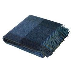 Maharam Throw, in Wool Check 005 Iris, by Paul Smith