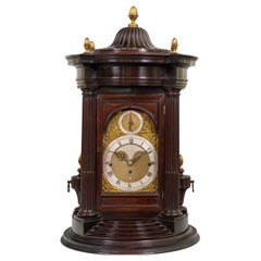 18th Century Antique George III Mahogany Musical Table Clock, Ralph Gout, London