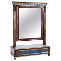Mahogany Table Mirror with Verre Églomisé Inlays, St. Petersburg, circa 1800