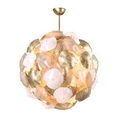 Mare Murano Glass Sputnik Chandelier with 24-Carat Gold Leaf 'Us Spec'
