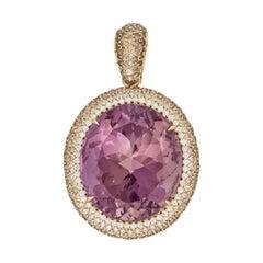 Margot McKinney 18K Gold Necklace with 58.92ct Ametrine and Diamond Pendant
