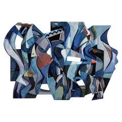 Maria Astadjov Modern Abstract Painting Shadows Dance Upon the Wall, 2018