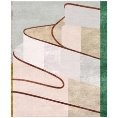 Maria Hand Knotted Wool and Silk Rug 8 x 10ft