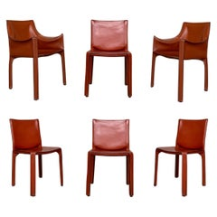 """Mario Bellini """"CAB"""" Chairs for Cassina, 1977, Set of 6"""