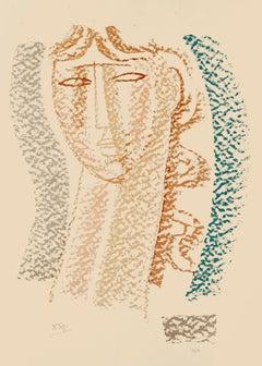 Woman - Original Lithograph by Mario Tozzi - Mid 20th Century