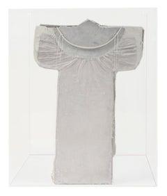 """Kite Series; Guardian III,"" White Porcelain Sculpture by Marjorie Mau"