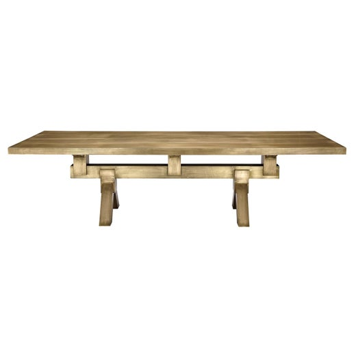 Mass Dining Table in Brass by Tom Dixon