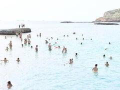 Cala Conta Point - large scale Mediterranean beach scene (artist framed)
