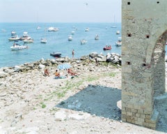 Meloria - large format photograph of iconic Italian beach on Mediterranean Sea
