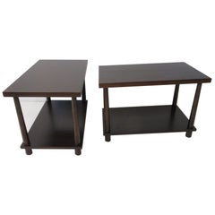 Matching Pair Side Tables / Nightstands by T.H. RobsJohn Gibbings for Widdicomb