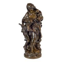Bronze Sculpture of a Mother and Child