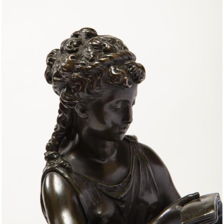 Exquisite French Bronze, Rouge Marble, and Sèvres Style Porcelain Sculpture For Sale 15