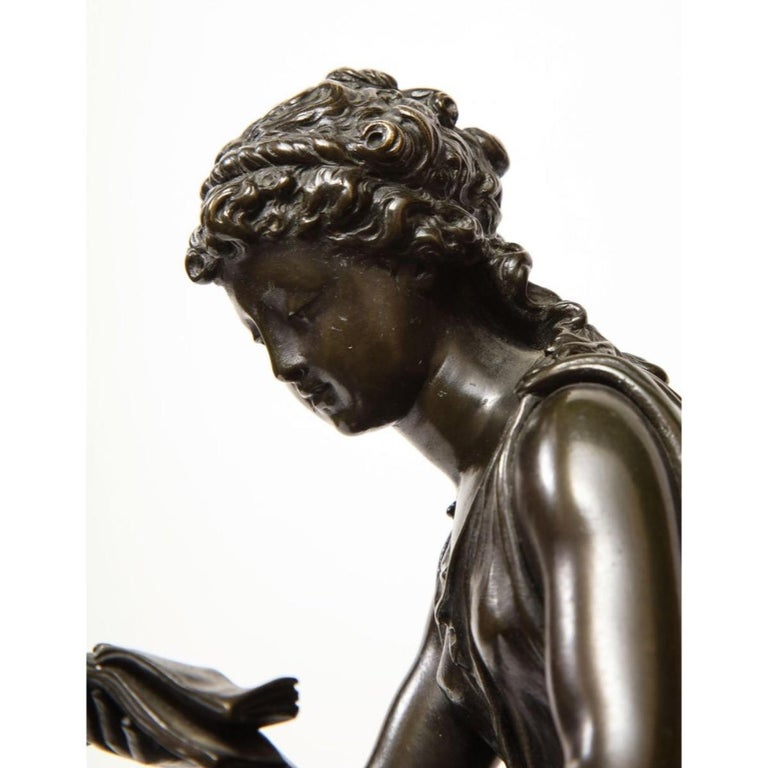 Exquisite French Bronze, Rouge Marble, and Sèvres Style Porcelain Sculpture For Sale 3