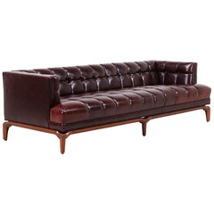 Maurice Bailey Biscuit-Tufted Leather Sofa for Monteverdi-Young