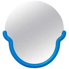 Medium Bogin Mirror in Blue by Greg Bogin for Normann X Brask Art Collection