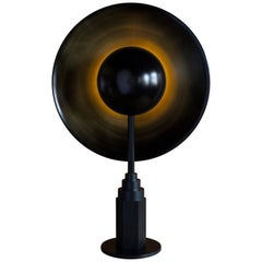 Metropolis Noir, Brass Limited Edition Table Lamp by Jan Garncarek