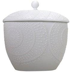 Michaela Frey for AK Kaiser Midcentury Op Art Lidded Bisque Porcelain Jar, 1960s