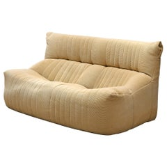 Michel Duraroy 'Togo' Settee in Off-White Fabric